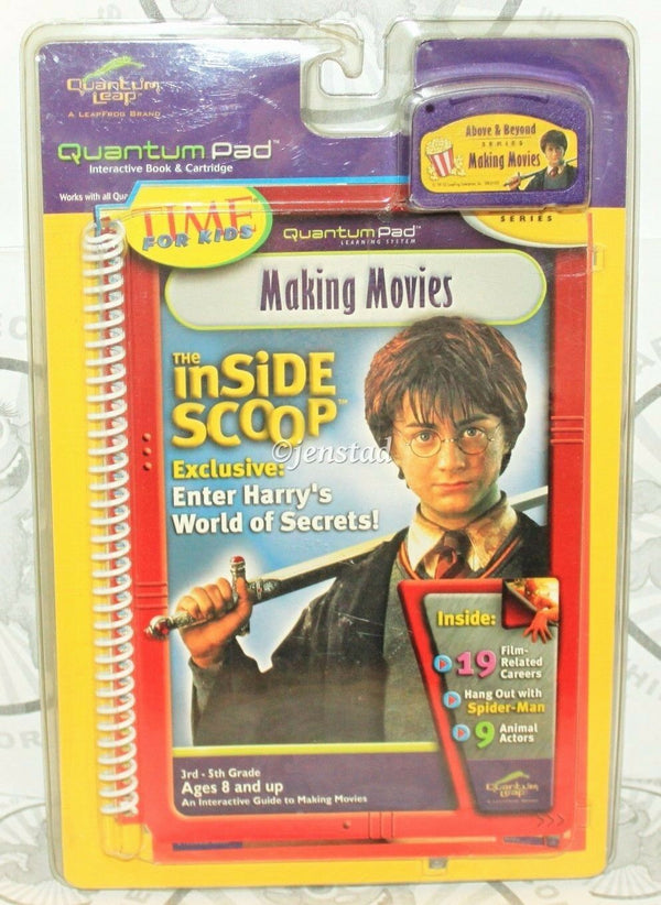 HARRY POTTER QUANTUM PAD THE INSIDE SCOOP MAKING MOVIES LEAPPAD BOOK & CARTRIDGE - EZ Monster Deals