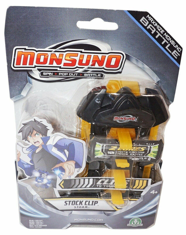 "MAXIMIZE MONSUNO BATTLE STOCK 5"" TOY CLIP ACCESSORY - STORM YELLOW 2012 NEW-EZ Monster Deals"