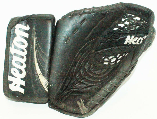 HEATON HELITE 5 GLOVE VINTAGE JR JUNIOR HOCKEY GOALIE CATCH USED OR ADULT SMALL - EZ Monster Deals