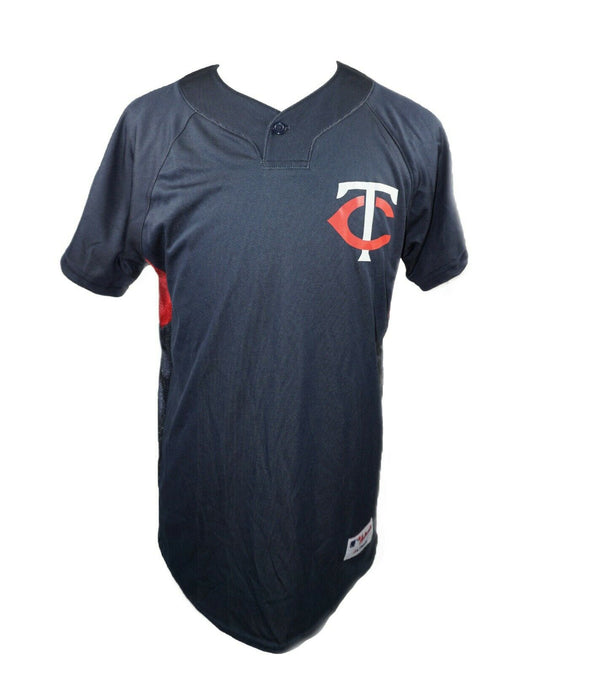 Minnesota Twins MLB Baseball TC Logo Tee - Mens One Button Majestic Shirt XL