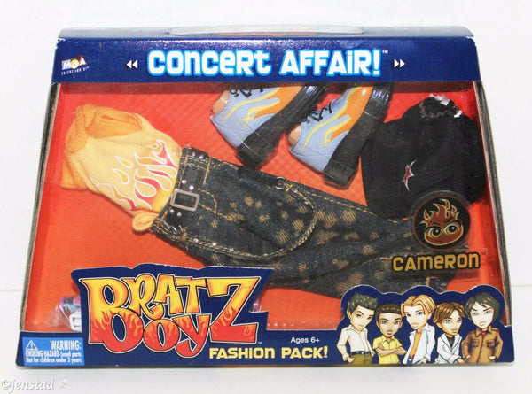 CAMERON BRATZ BOYZ CONCERT AFFAIR ONE FASHION PACK BRAT BOY CLOTHING OUTFIT 2004 - EZ Monster Deals