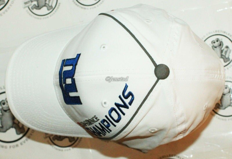 BLEMISHES - NEW YORK NY GIANTS REEBOK NFL XLVI NFC CONFERENCE 2011 CHAMPS HAT -2 - EZ Monster Deals