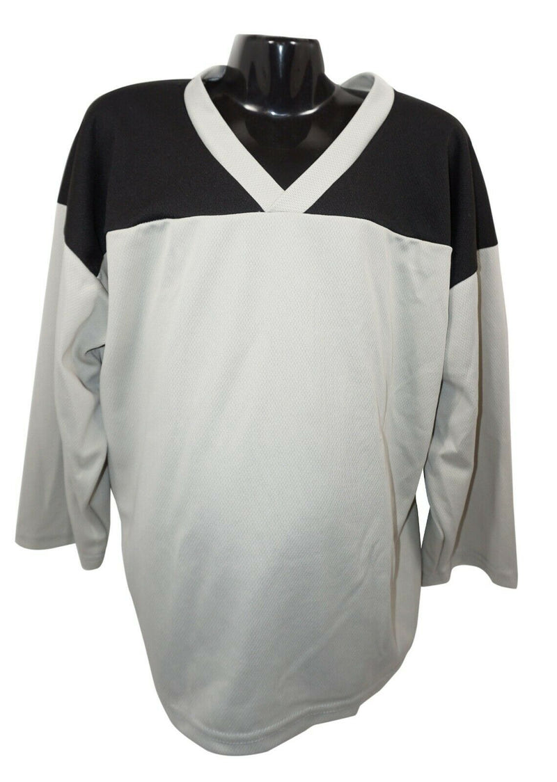 XTREME BASICS YTH S HOCKEY GRAY BLACK JERSEY - YOUTH SMALL ICE ROLLER USED - EZ Monster Deals