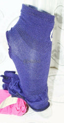 ROXY HEEL & TOE LESS WOMEN 9-11 FITNESS YOGA OR CASUAL SOCKS PURPLE/PINK NEW-EZ Monster Deals