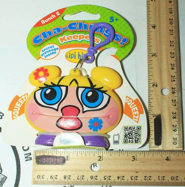 LIPI HIPI KEEPER CHA-CHING - BUNCH 2 VINYL TOY COLLECTIBLE KEYCHAIN CLIP 2011
