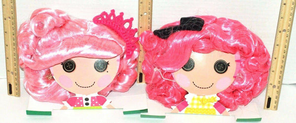 2 LOT LALALOOPSY CRUMBS SUGAR COOKIE & JEWEL SPARKLES PINK TOY COSTUME WIGS 2012 - EZ Monster Deals