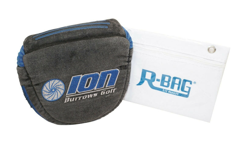 ION BURROWS - USED GOLF MALLET PUTTER COVER & R-BAG POUCH - EZ Monster Deals