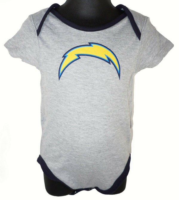 LOS ANGELES LA CHARGERS BABY SUIT - NFL 1-PC GRAY OUTFIT FOOTBALL 24 MTH NEW - EZ Monster Deals