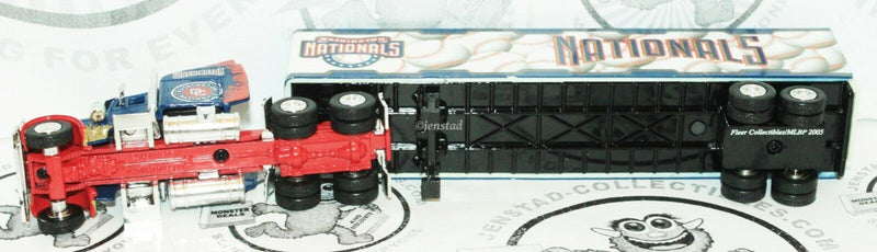 WASHINGTON NATIONALS MLB BASEBALL 1:80 - DIECAST TRUCK TRAILER TOY VEHICLE 2005