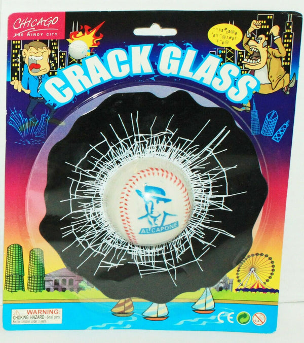 AL CAPONE - CRACKED GLASS BASEBALL IN WINDOW COVER NOVELTY GIFT TOY NEW-EZ Monster Deals