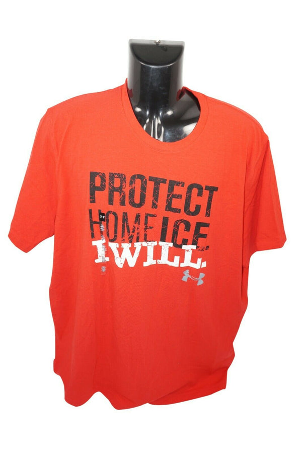 PROTECT HOME ICE I WILL UNDER ARMOUR HEATGEAR - RED XL SHIRT ADULT XLARGE 2016 - EZ Monster Deals