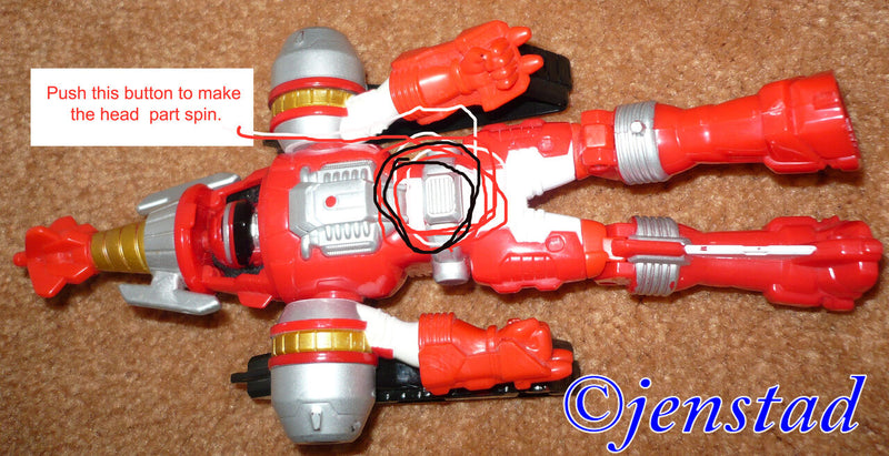 "POWER RANGERS OPERATION OVEDRIVE RED TURBO DRILL TOY 9.5"" MORPHING FIGURE 2006 - EZ Monster Deals"