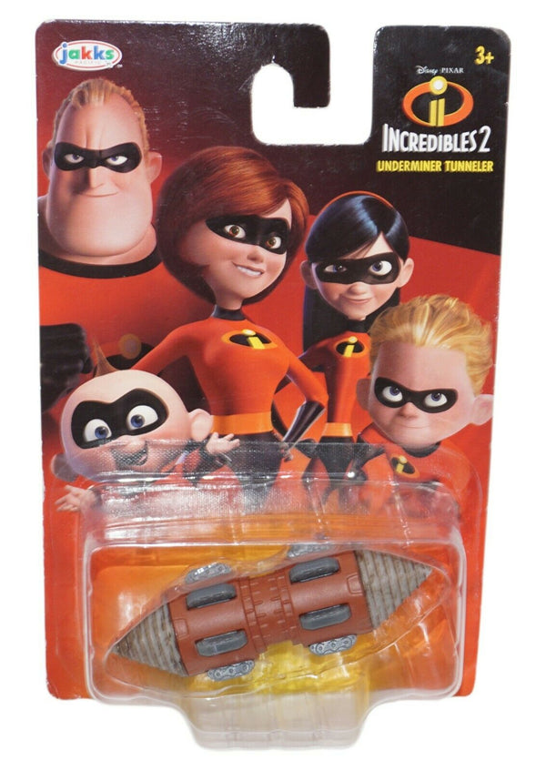 "UNDERMINER TUNNELER DIECAST 2.75"" CAR VEHICLE - INCREDIBLES 2 DISNEY PIXAR 2018 - EZ Monster Deals"