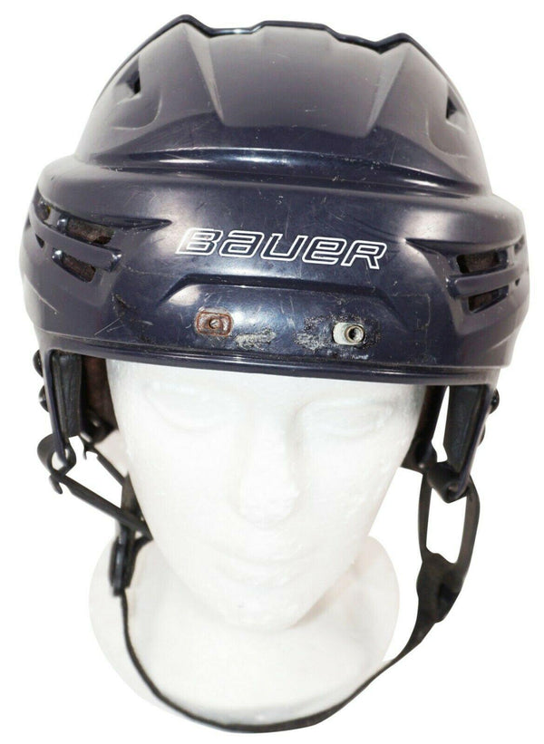 "BAUER ICE HOCKEY DARK BLUE RE-AKT SR HELMET ADULT SENIOR MEDIUM 22""-23.4"" USED - EZ Monster Deals"
