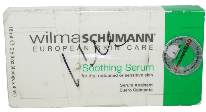 3 WILMA SCHUMANN EUROPEAN SKIN CARE SOOTHING SERUM DRY IRRITATED SENSITIVE 12 ML - EZ Monster Deals