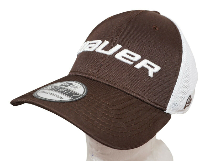 NEW ERA BAUER HOCKEY 39THIRTY ADULT HAT - STRETCH FIT BROWN SMALL MEDIUM 2014 - EZ Monster Deals