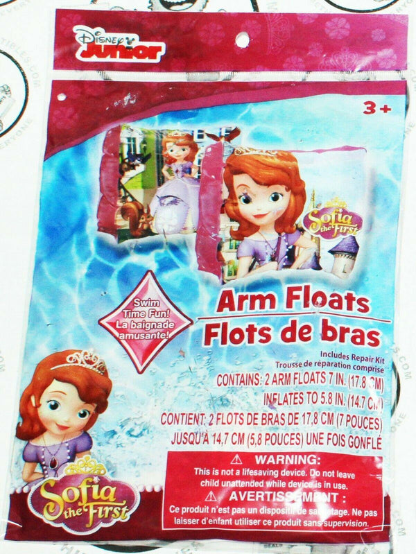 SOFIA THE FIRST - ARM FLOATS DISNEY JUNIOR TV SERIES FOR POOL WATER BEACH NEW