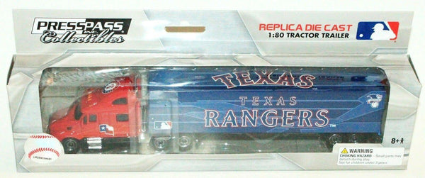 TEXAS RANGERS MLB BASEBALL 1:80 DIECAST SEMI TRUCK TRAILER TOY VEHICLE 2012 NEW - EZ Monster Deals