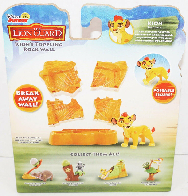"KION TOPPLING ROCK WALL - FROM THE LION GUARD DISNEY JR 3"" TOY FIGURE NEW 2016 - EZ Monster Deals"