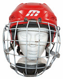MISSION CASCADE M11 HOCKEY SMALL RED HELMET + BAUER TRUE VISION LARGE CAGE USED - EZ Monster Deals