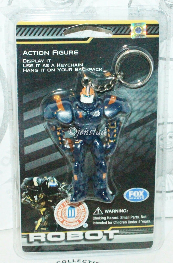 "NCAA ILLINOIS ILLINI TEAM CLEATUS - FOX SPORTS ROBOT 3"" TOY FIGURE KEYCHAIN 2008 - EZ Monster Deals"
