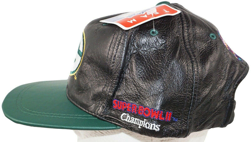 GREEN BAY PACKERS NFL SUPER BOWL XXXI FOOTBALL - LEATHER HAT 1997 VINTAGE NEW - EZ Monster Deals