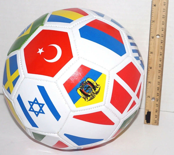 "WORLD INTERNATIONAL COUNTRY FLAG 26"" INDOOR OUTDOOR SOCCER BALL SIZE 4 NEW-EZ Monster Deals"