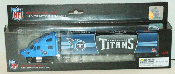 TENNESSEE TITANS NFL FOOTBALL 1:80 DIECAST - SEMI TOY TRUCK TRACTOR TRAILER 2012 - EZ Monster Deals