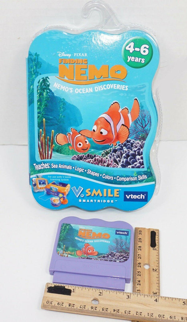 FINDING NEMO - OCEAN DISCOVERIES VTECH V.SMILE DISNEY PIXAR EDU GAME CARTRIDGE - EZ Monster Deals