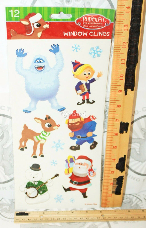RUDOLPH THE RED NOSED REINDEER FROM TV CARTOON MOVIE WINDOW CLINGS HOLIDAY NEW-EZ Monster Deals