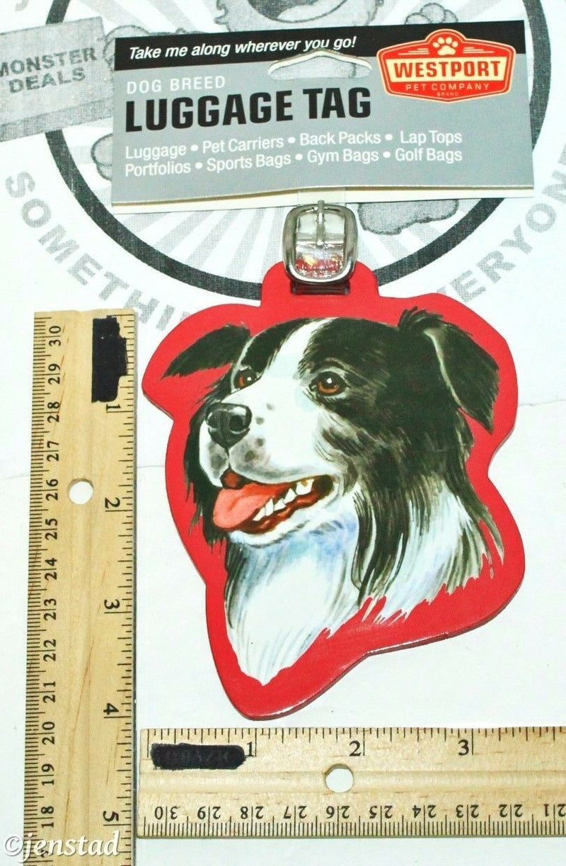 BORDER COLLIE PET CO DOG BREED ID TAG FOR LUGGAGE CARRIER GYM BAG ETC NEW - EZ Monster Deals