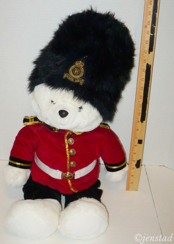 "BENJAMIN J BEAR QUEENS GUARD JINGLE BEAR 27"" PLUSH TOY FIGURE STUFFED BEAR 1990s-EZ Monster Deals"