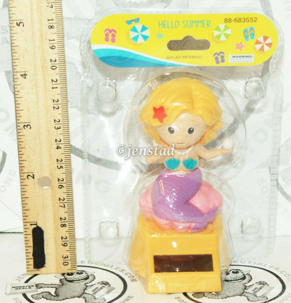 "SOLAR POWER - MERMAID HOLDING PEARL DANCING TOY 4"" FIGURE NEW"
