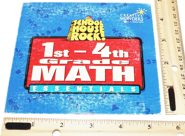 SCHOOL HOUSE ROCK 1ST-4TH GRADE - MATH ESSENTIALS PC CD-ROM FUN GAMES USED 1997-EZ Monster Deals