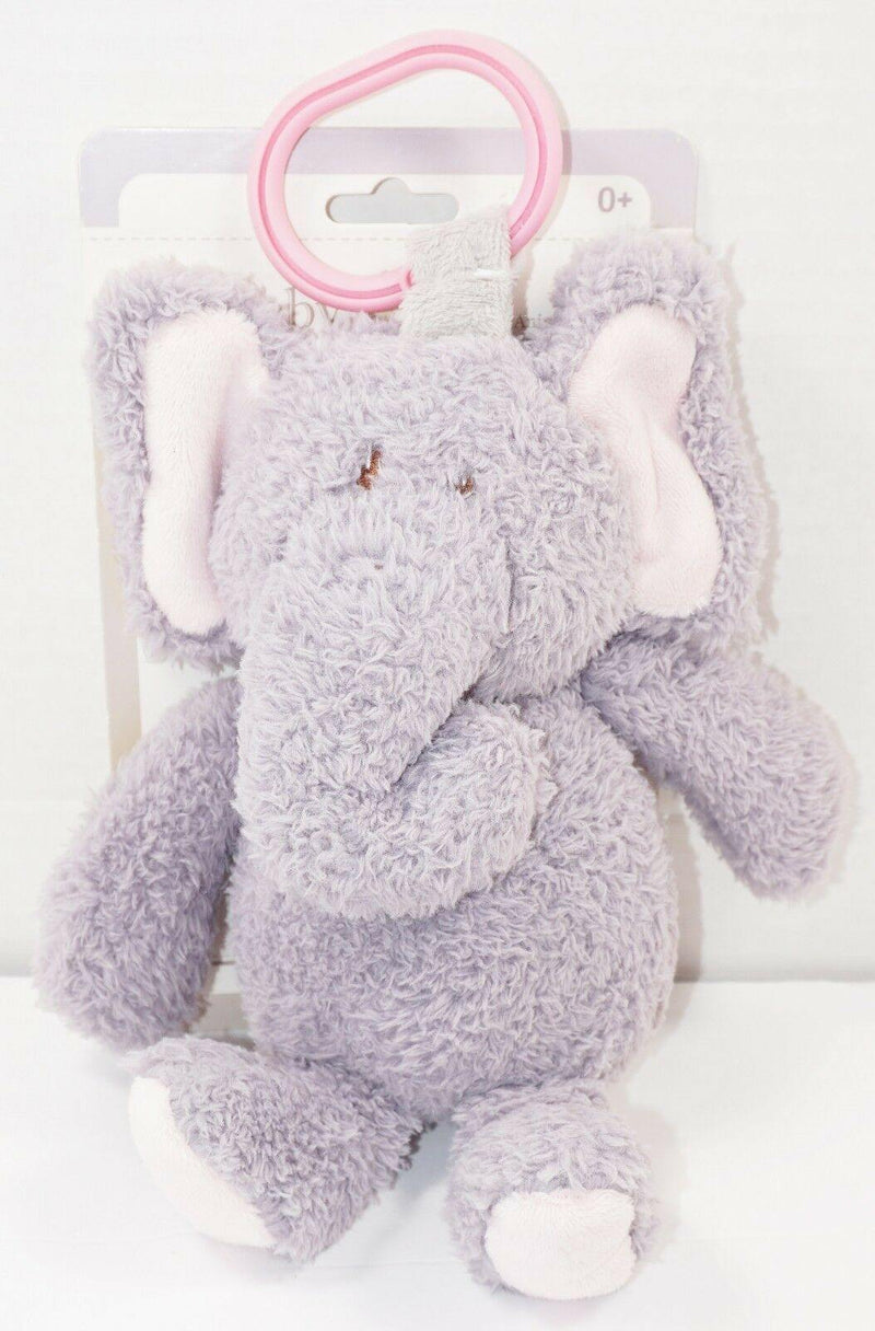 ELEPHANT PLUSH W/ RATTLE & LINK CLIP TOY - SOFT KELLY TOYS STUFFED ANIMAL 2017-EZ Monster Deals
