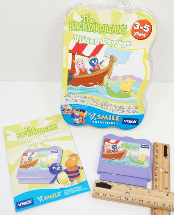 THE BACKYARDIGANS VIKING ADVENTURE FOR VTECH V.SMILE EDUCATIONAL GAME CARTRIDGE