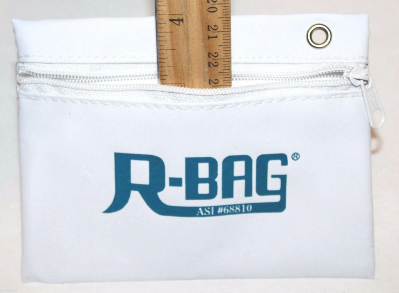 "OFFICIAL R-BAG GOLF TEE ZIPPER POUCH WHITE BAG HOLDER W/ WINDOW SLOT 4"" X 5.13"" - EZ Monster Deals"