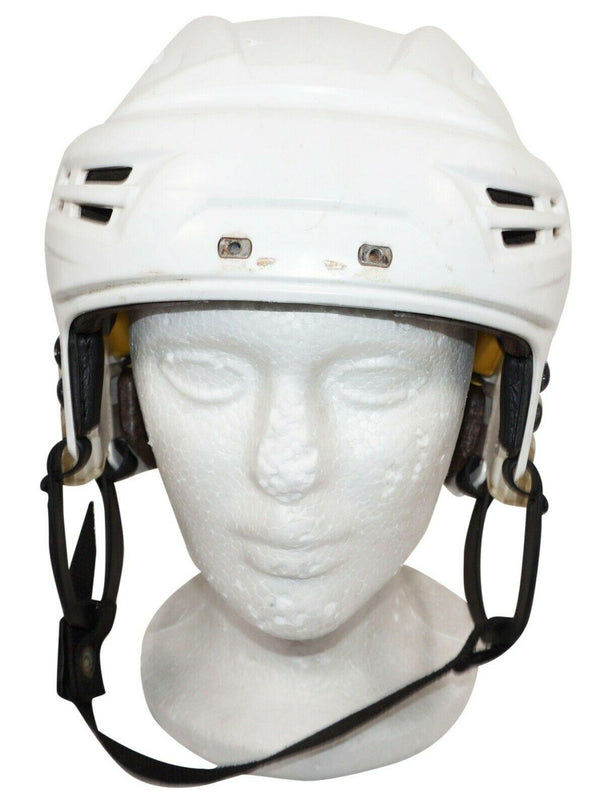 "BAUER ICE HOCKEY WHITE RE-AKT SR HELMET - ADULT SENIOR MEDIUM 22""-23.4"" USED - EZ Monster Deals"
