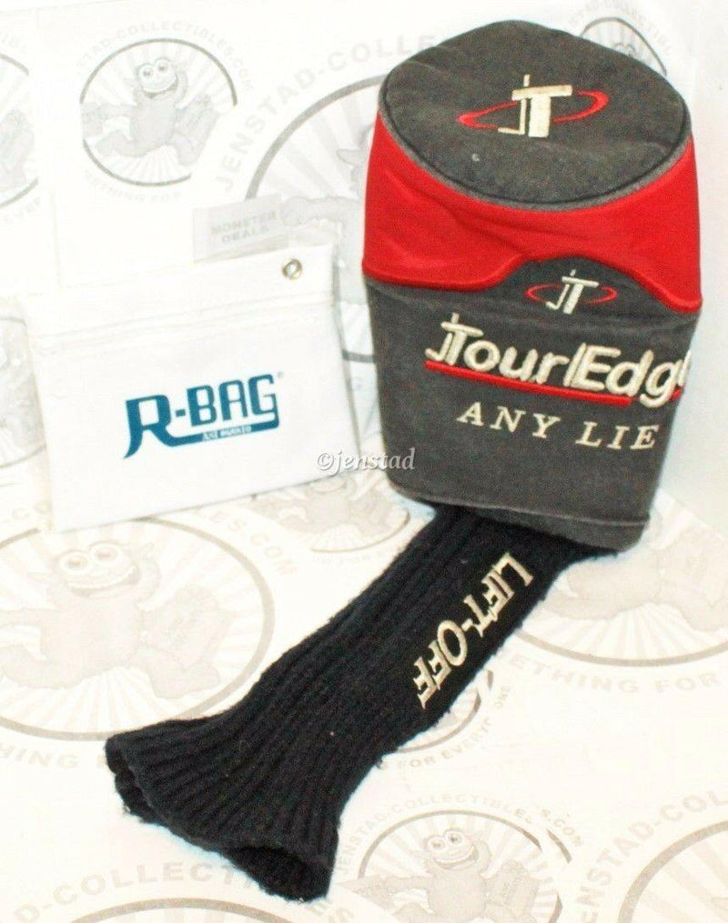 TOUR EDGE ANY LIE LIFT-OFF DRIVER CLUB COVER GOLF HEADCOVER & RBAG POUCH - EZ Monster Deals