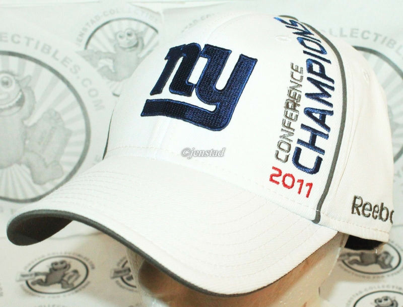 NEW YORK NY GIANTS REEBOK NFL XLVI - NFC CONFERENCE 2011 CHAMPIONS HAT - STYLE 1-EZ Monster Deals