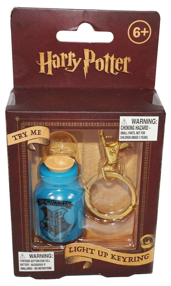 "HARRY POTTER HOGWARTS BOTTLE LIGHT UP KEYCHAIN - 5"" W/ KEYRING NEW 2016 - EZ Monster Deals"