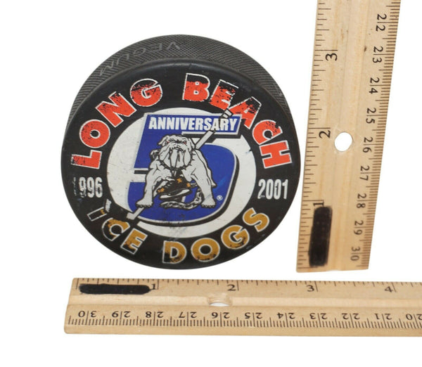 Long Beach Ice Dogs Hockey Puck Anniversary 1996-2001 Official Minor Hockey #5