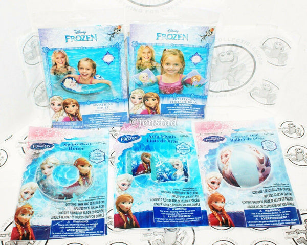 5 LOT - DISNEY FROZEN ELSA ANNA OLAF SWIM RING ARM FLOATS BEACH BALL FOR POOL - EZ Monster Deals