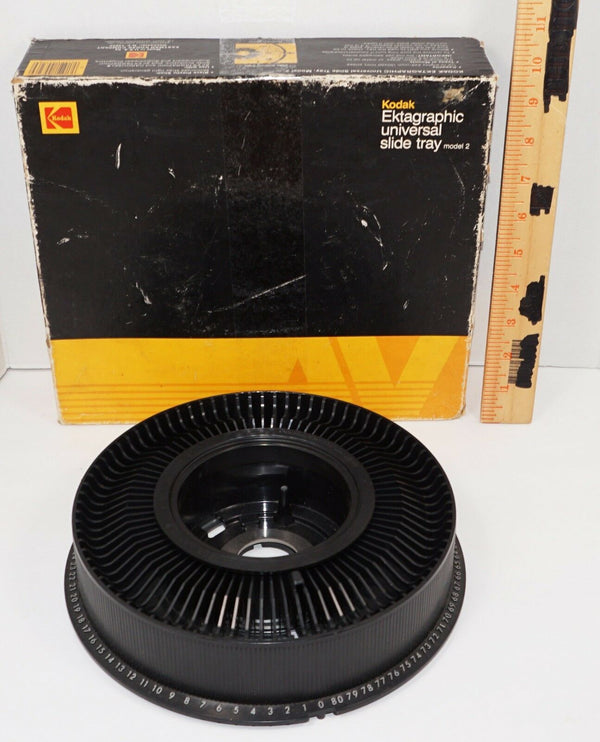 KODAK EKTAGRAPHIC UNIVERSAL CAROUSEL SLIDE TRAY MODEL 2 W/ BOX 1983 VINTAGE USED - EZ Monster Deals