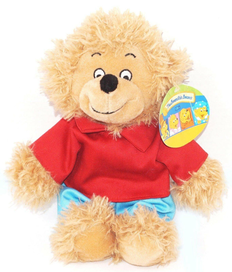 "BROTHER THE BERENSTAIN BEAR BOY PLUSH TOY - 10"" STUFFED ANIMAL BEANBAG 1990s - EZ Monster Deals"