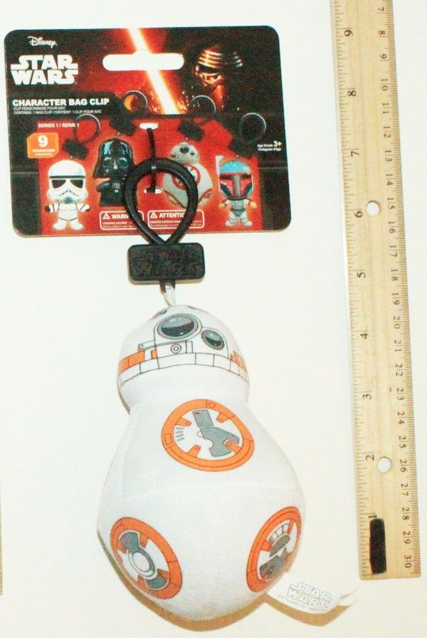 "BB8 - DISNEY STAR WARS FORCE AWAKENS 4.5"" PLUSH TOYS BAG CLIP-ON SERIES 1 NEW - EZ Monster Deals"