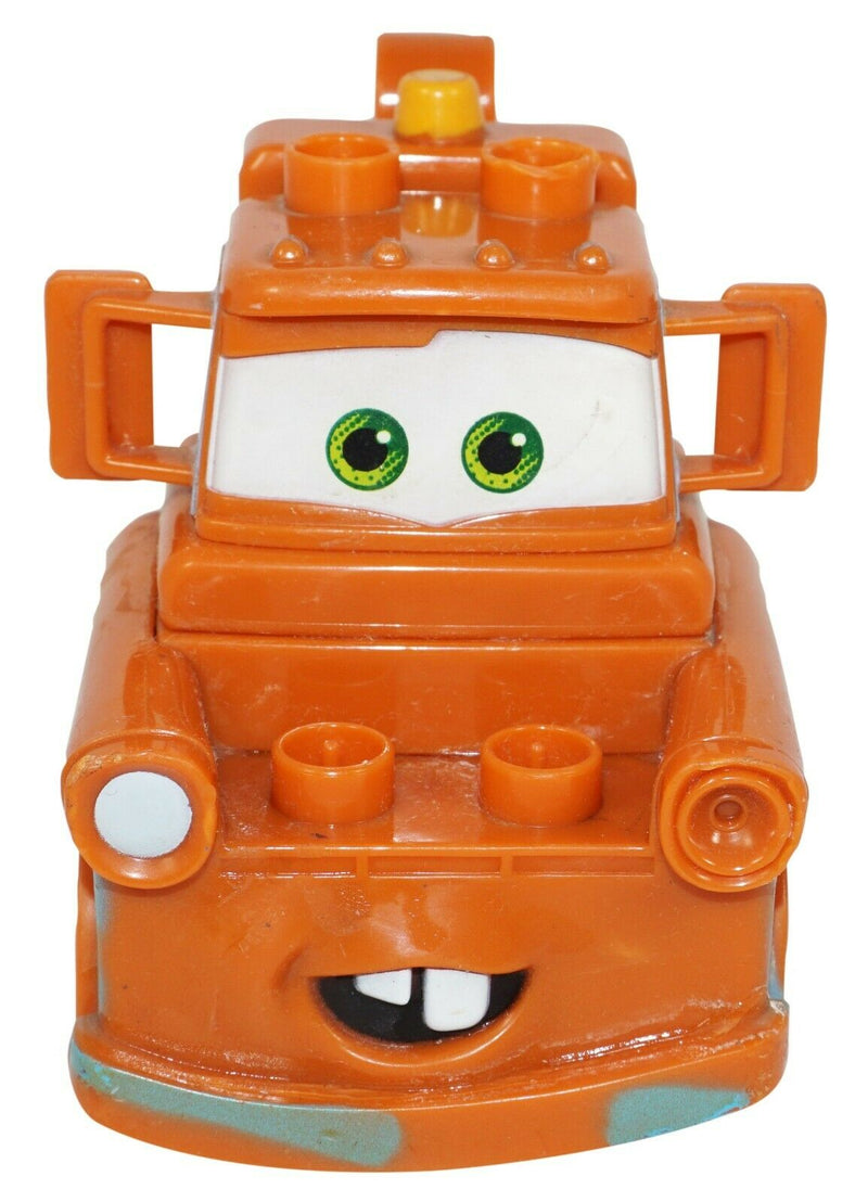 "TOW MATER FROM DISNEY PIXAR CARS - TOY MEGA BLOKS 3.5"" TRUCK BLOCK FIGURE USED - EZ Monster Deals"