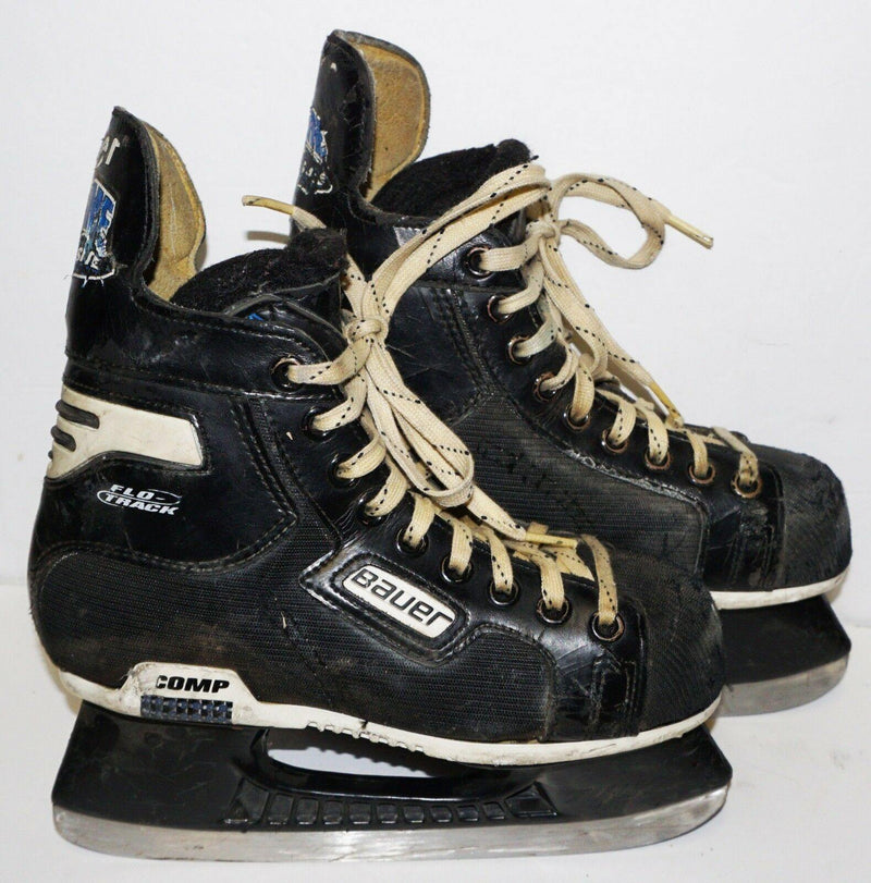 BAUER SUPREME COMP FLO JR 3D ICE HOCKEY SKATES  - SIZE 3 JUNIOR D WIDTH USED - EZ Monster Deals