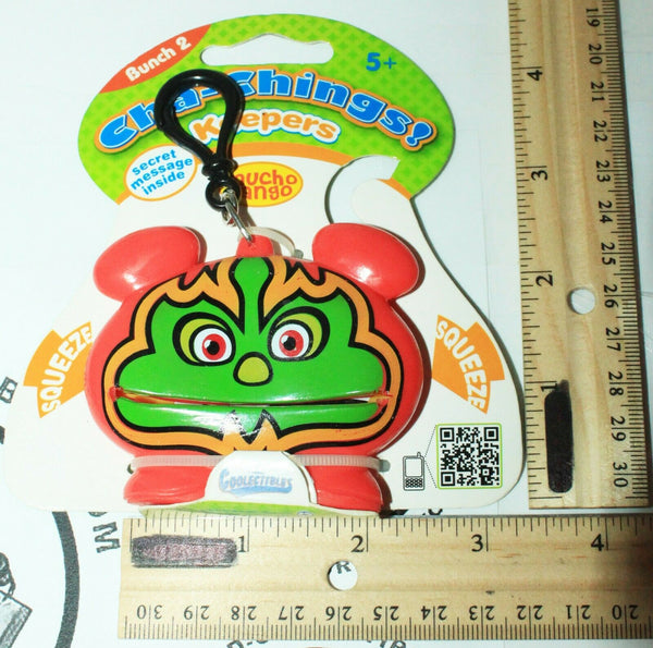 MUCHO BANGO KEEPER CHA-CHING - BUNCH 2 VINYL TOY COLLECTIBLE KEYCHAIN CLIP 2011-EZ Monster Deals