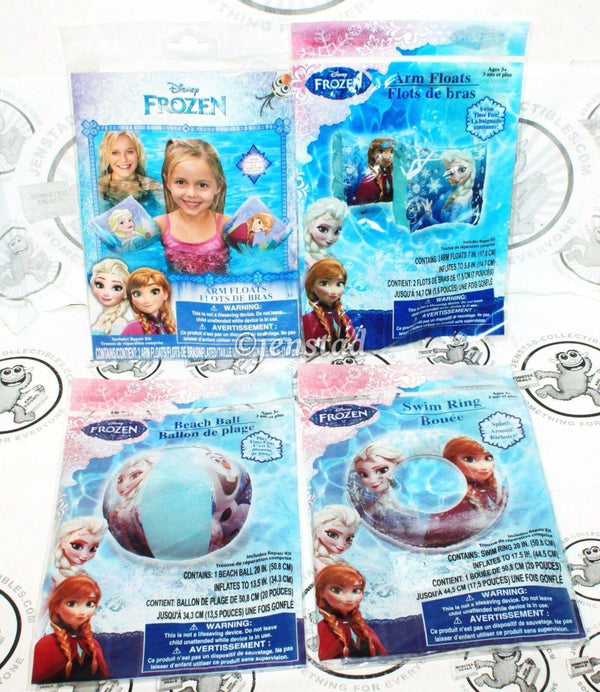 4 LOT - DISNEY FROZEN ELSA ANNA OLAF SWIM RING ARM FLOATS BEACH BALL FOR POOL - EZ Monster Deals